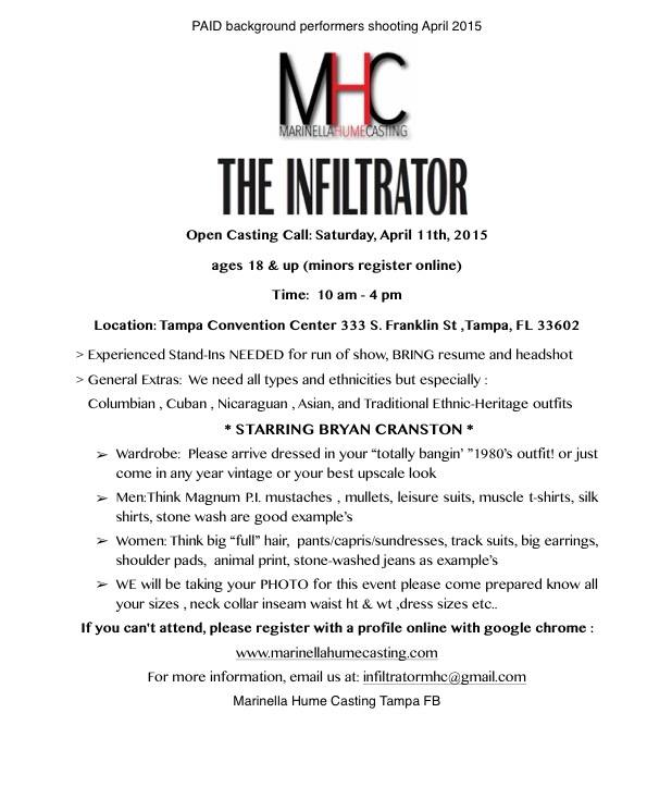 The Infiltrator - Extras Open Casting Session